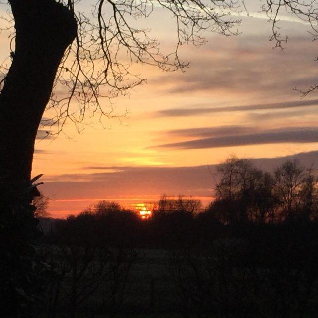 Weer een mooie zonsondergang bij hoffenterhof  lovesunsets autumn zonsonderganghellip